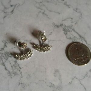 Cubic Zirconia Sterling Silver Earrings